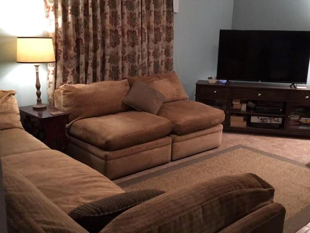 """Relax in livingroom,  watch TV 52"""" screen"""