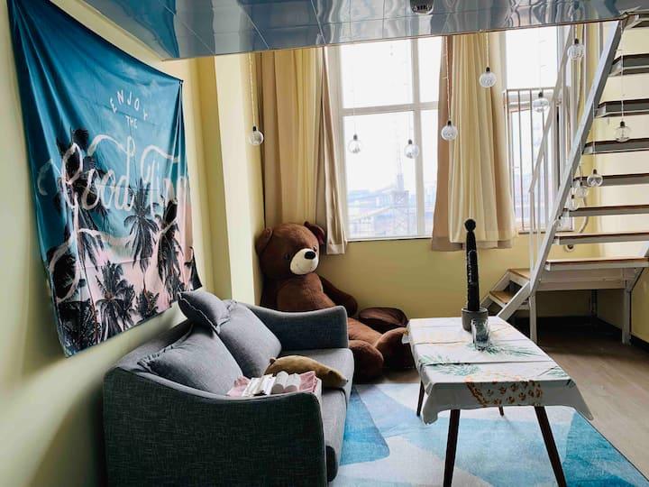 星星屋⑤【大熊的投影仪星星小屋】近百子湾地铁站/欢乐谷/双井/国贸