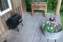 Small charcoal grill avaiable upon request