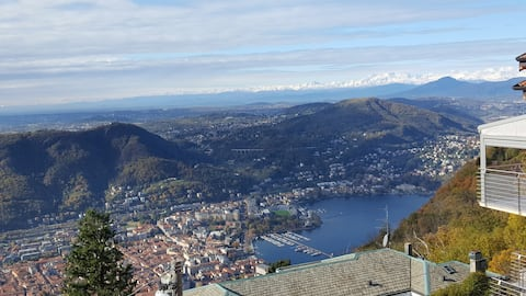 """Apartmán """"Le Vigne"""" v Brunate - Como - Výhľad na jazero"""