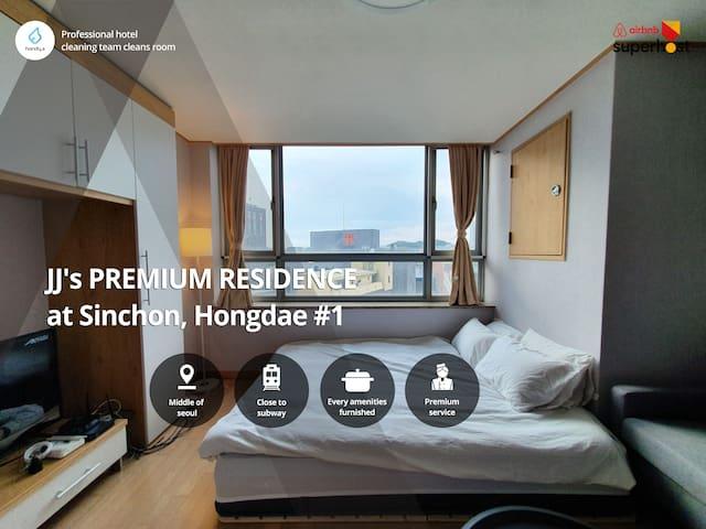 (perfect residence) 0min Sinchon, 5min Hongdae 1