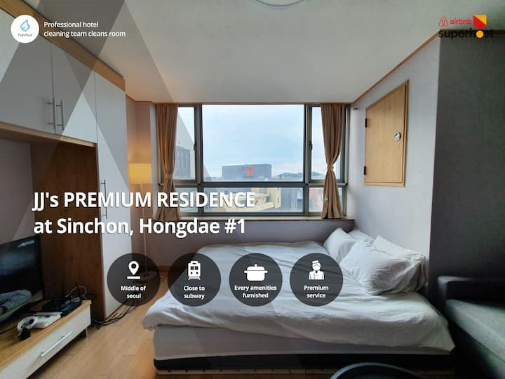 (perfect residence) 0min Sinchon, 5min Hongdae 1