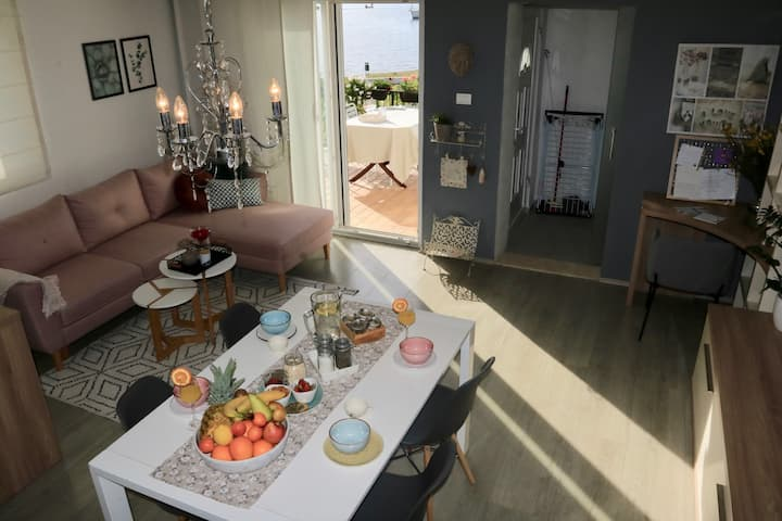 Apartments Radman / One-Bedroom Apartment with Terrace and Sea View-1.kat