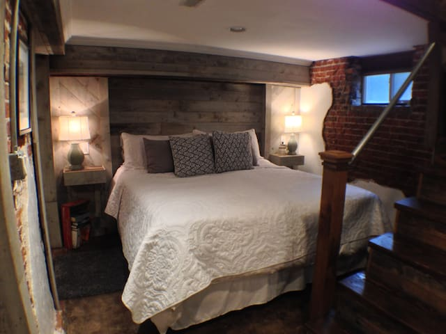 Comfy king size bed with side tables