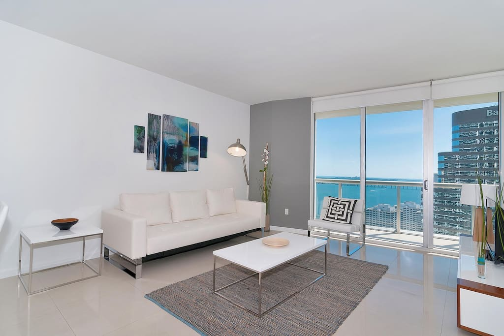 Spacious living area with spectacular view!