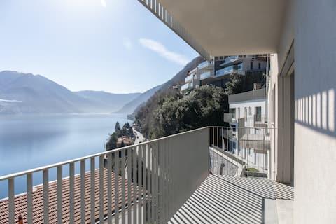 Moderný dvojpodlažný byt na jazere