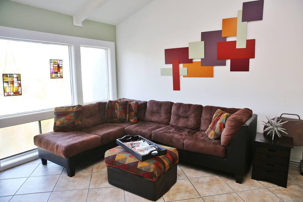Shared living room for relaxation and socializing.