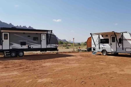 We're OPEN! Come social distance in an off-grid RV