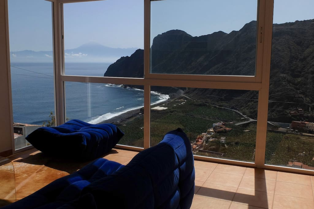 living room with view on Teide