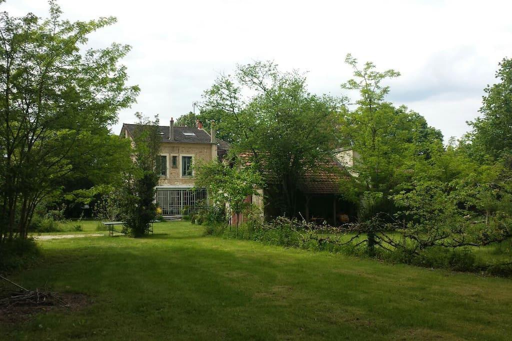 Magnifique maison d 39 artiste villas louer barbizon for Maison d en france ile de france