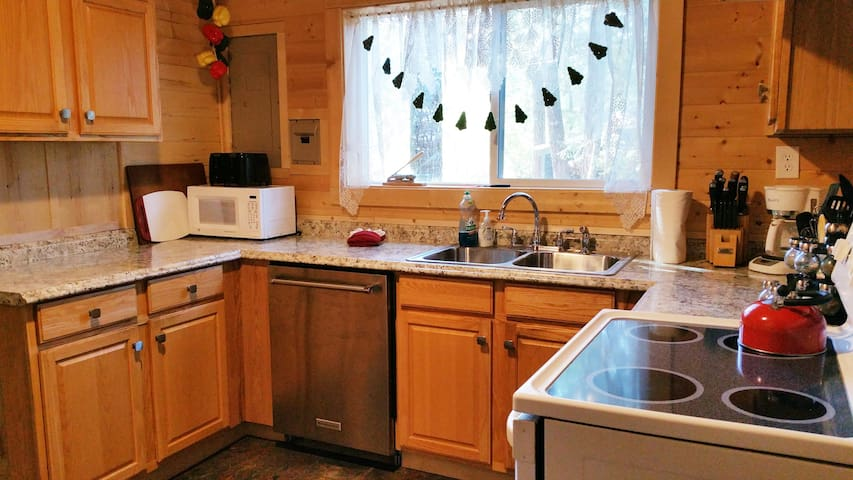 The remodeled kitchen.