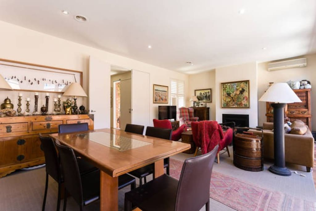 The open plan dining/sitting - a lovely space
