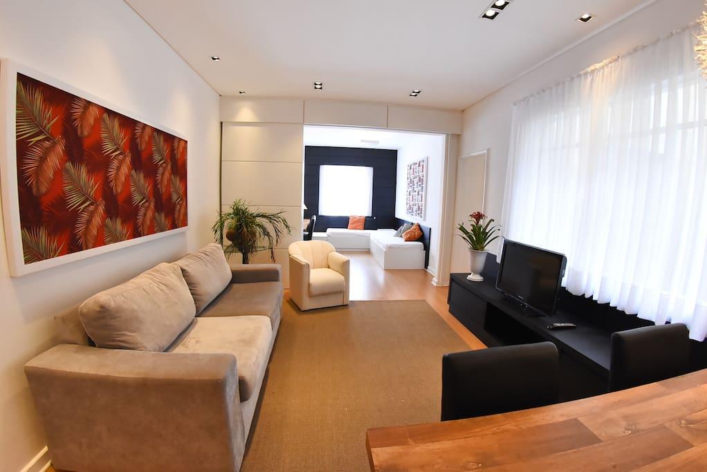 Sala com 3 ambientes