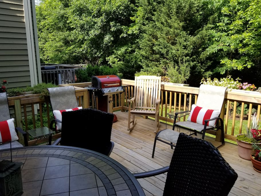 Seating for 11 on the deck