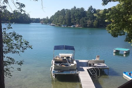 Cozy waterfront  home 12ft off lake. GORGEOUS view - Waupaca - House