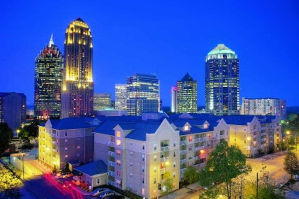 centrally located near nightlife and public transportation