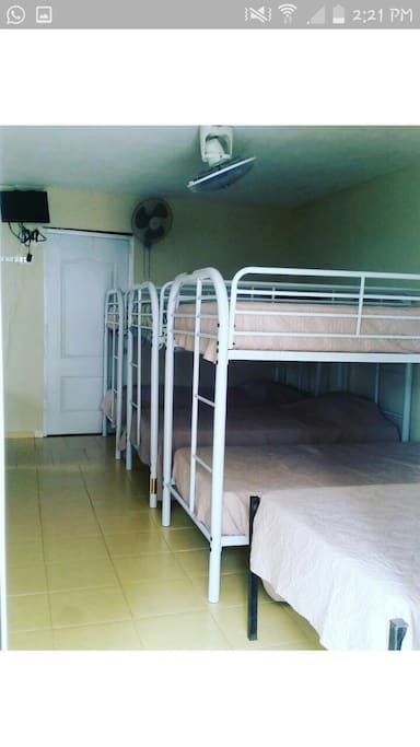 Bunk beds in the hostel Maricucha We can accomodate up to 50 people