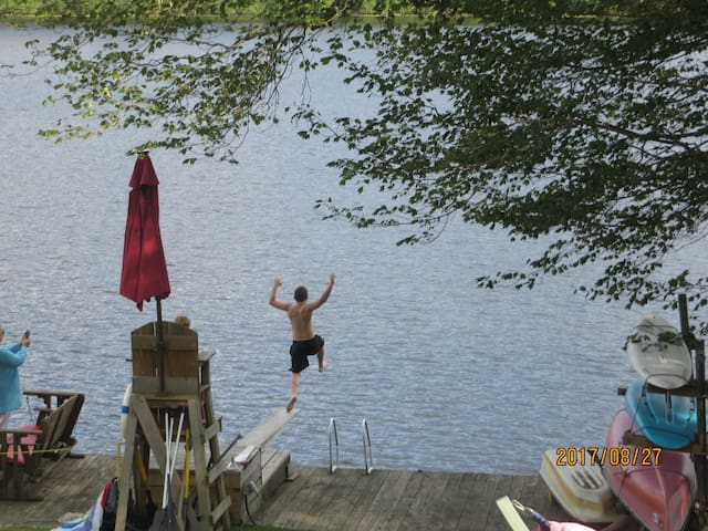 Only jumping board on the LAKE