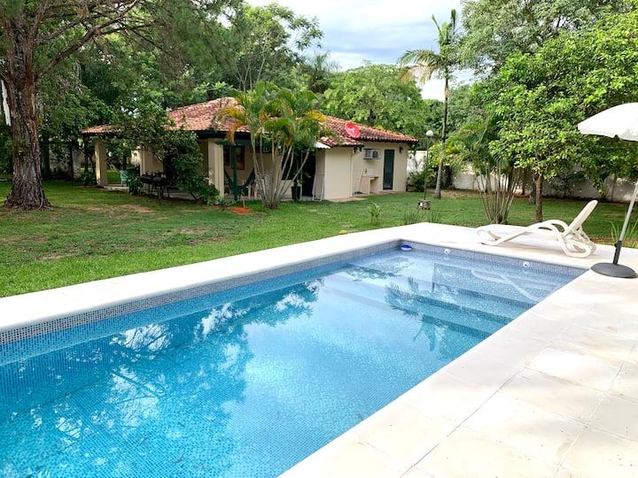 Casa familiar en Sanber. Cómoda y con amplio patio