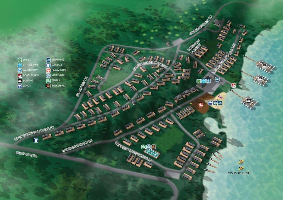 McCreary's Beach Resort Site Plan