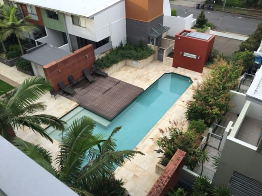The swimming pool. (View from the balcony)