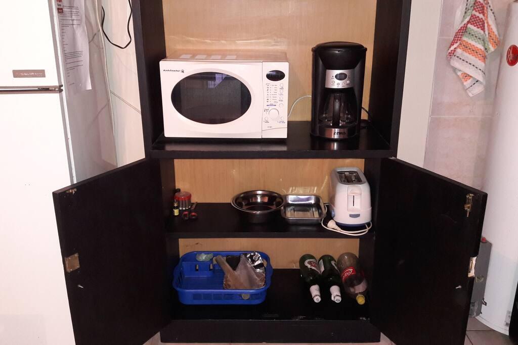 Microndas - cafetera - tostadora, art. de limpieza
