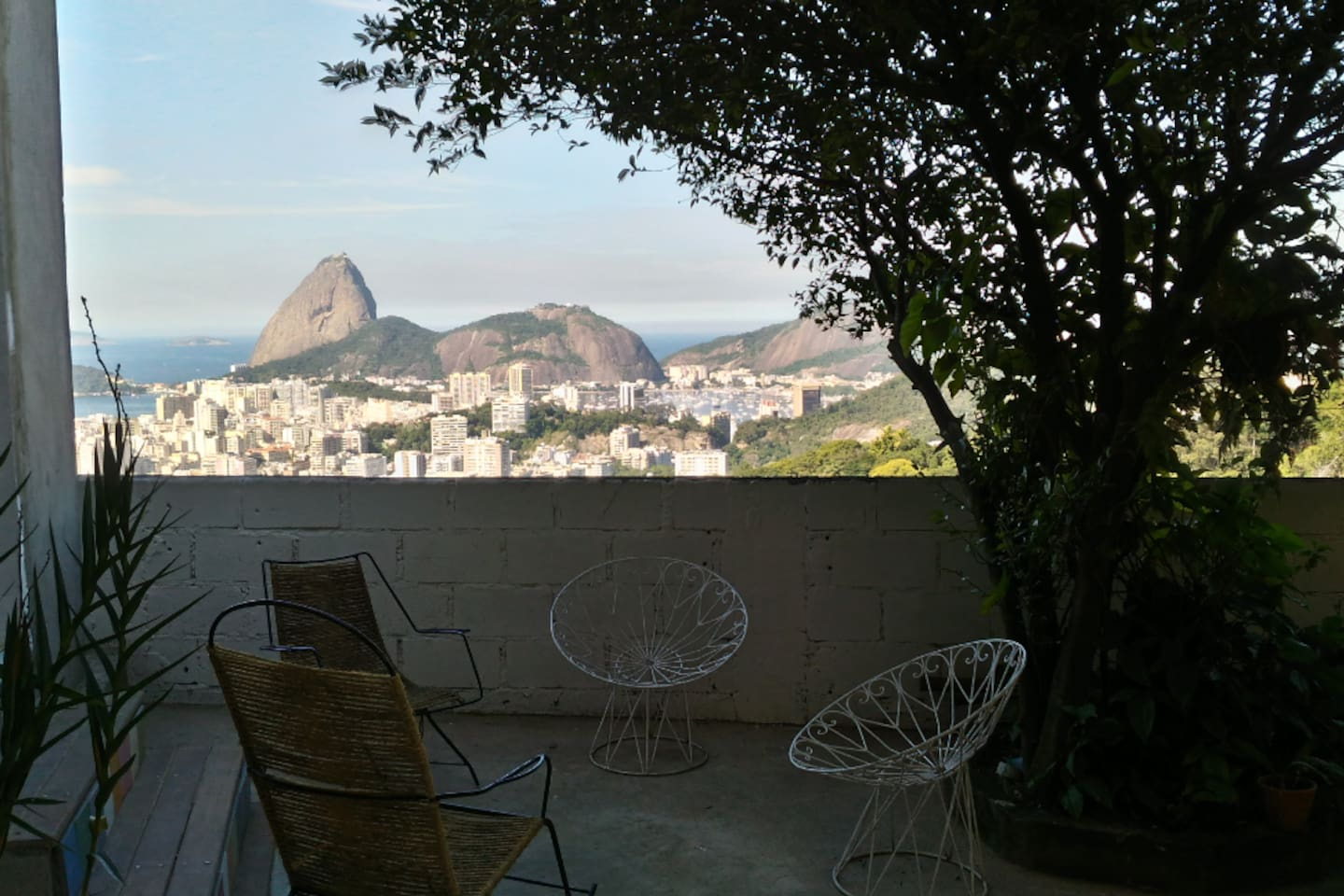 the view from the flat : Sugar Loaf and Flamengo district