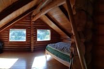 The sleeping loft....another perspective, but now has two single beds.