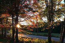 Autumn sunrise from our house