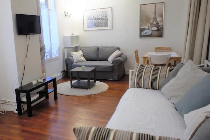 Paris in 15min - Flat  2/3 rooms for 6 persons.