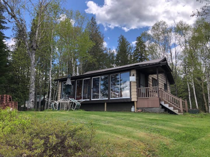 Shelby's Shangri-la, a year round lakefront cabin.