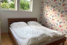 two bedrooms with double bed on the second floor