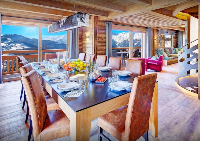 5* Relax in the pool or hot tub at this luxury Alpine chalet - OVO Network