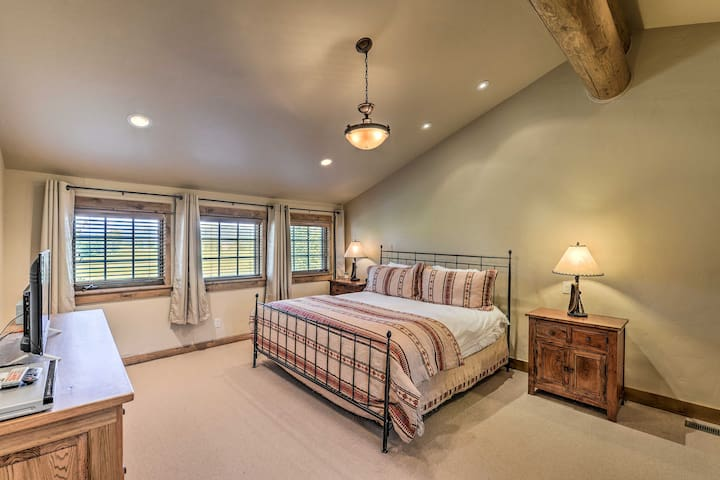 Master Bedroom offers king bed on the top floor