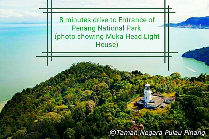 8 minutes drive to Entrance of Penang National Park
