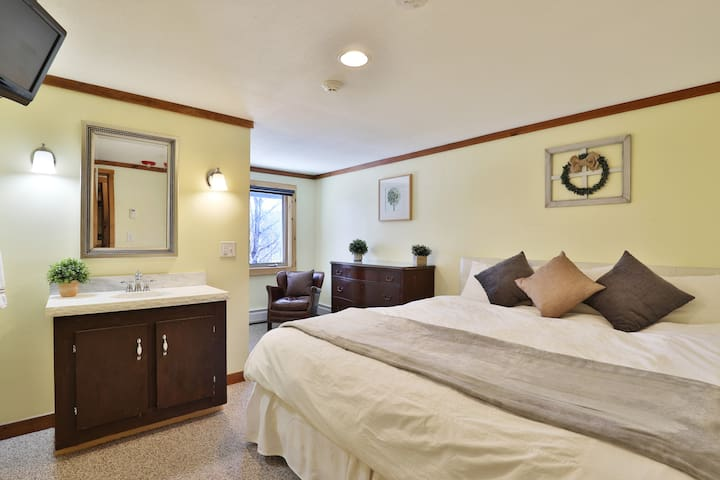 One of our king bed rooms.