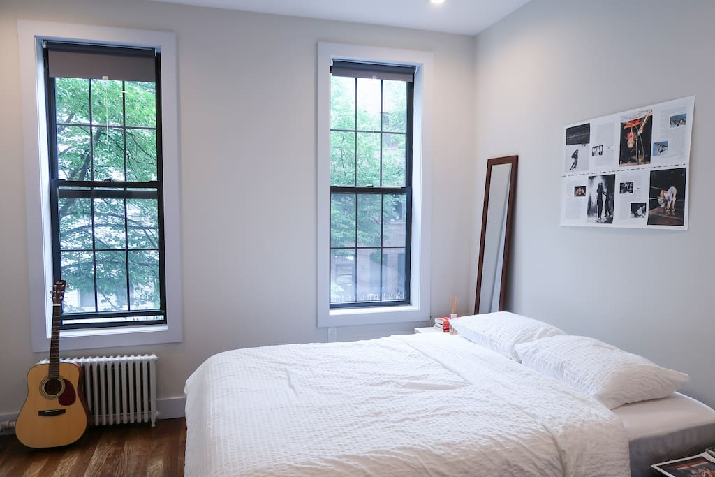 Master Bedroom. You can play the guitar.