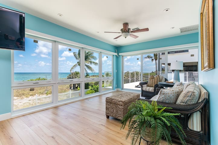 Oceanfront Villa with Private Beach Access !