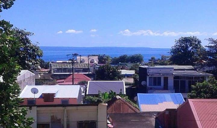 Apartment with one bedroom in Capesterre Belle Eau, with wonderful sea view, furnished balcony and WiFi - 7 km from the beach