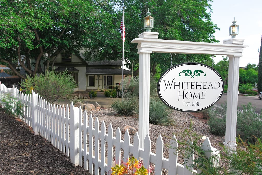 """Yes, This is the place! Be our Guest. Paul said, """"Located in the mature tree shaded Historic District of the town the Whitehead House is not only the antithesis but a remarkable testament to renovation, preservation and a genuine love of history and family."""""""