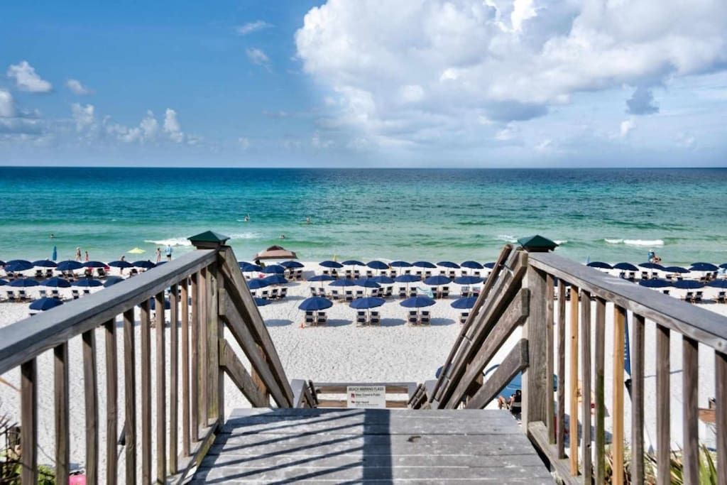 Beach Access and Beautiful Sugar Sand Beaches and Emerald Green Waters of the Gulf of Mexico!