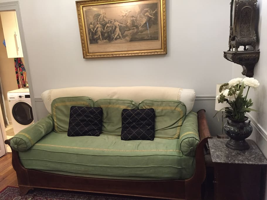 Directoire period pieces, twin empire sleigh bed (breaks down to full twin)