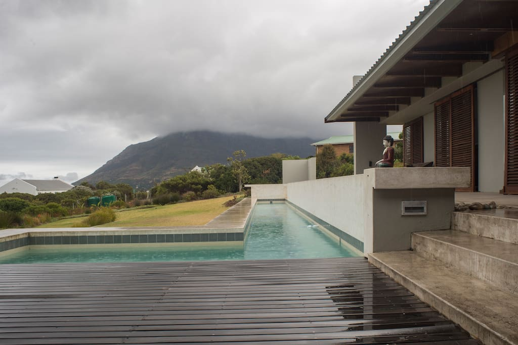 25 metre pool with a view, located directly outside the bedroom