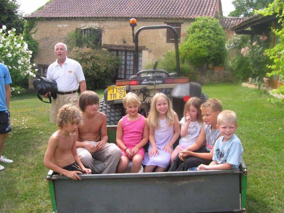 Bucket load of kids.