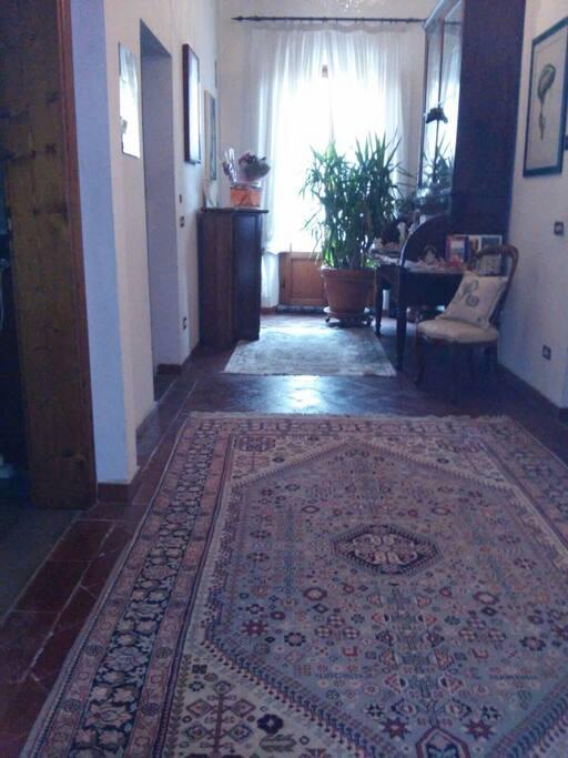 upstair walkway