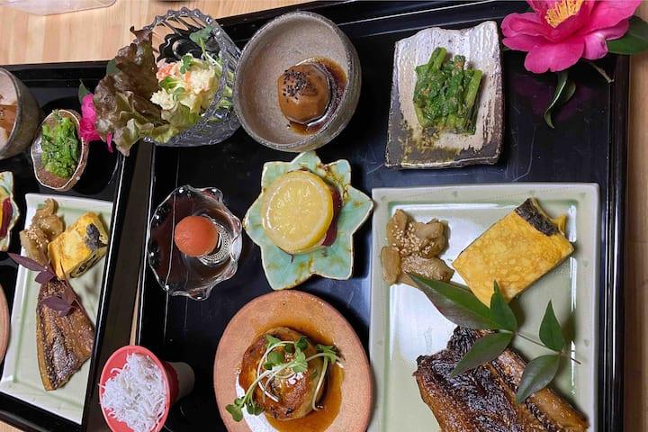 旅ノ舎 世界農業遺産の茶畑と東海道宿場町で過ごす休日 季節の里山料理夕朝食付き