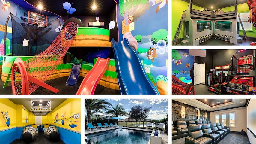 Beautiful Reunion Home! Lively Theme & Game Rooms
