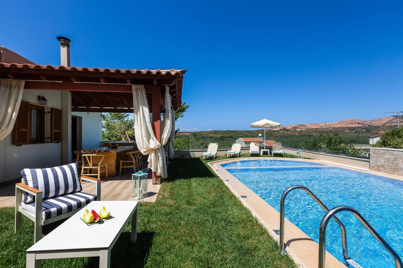 The outdoor area of Kampos Villa III, could only be described as a summer fantasy!