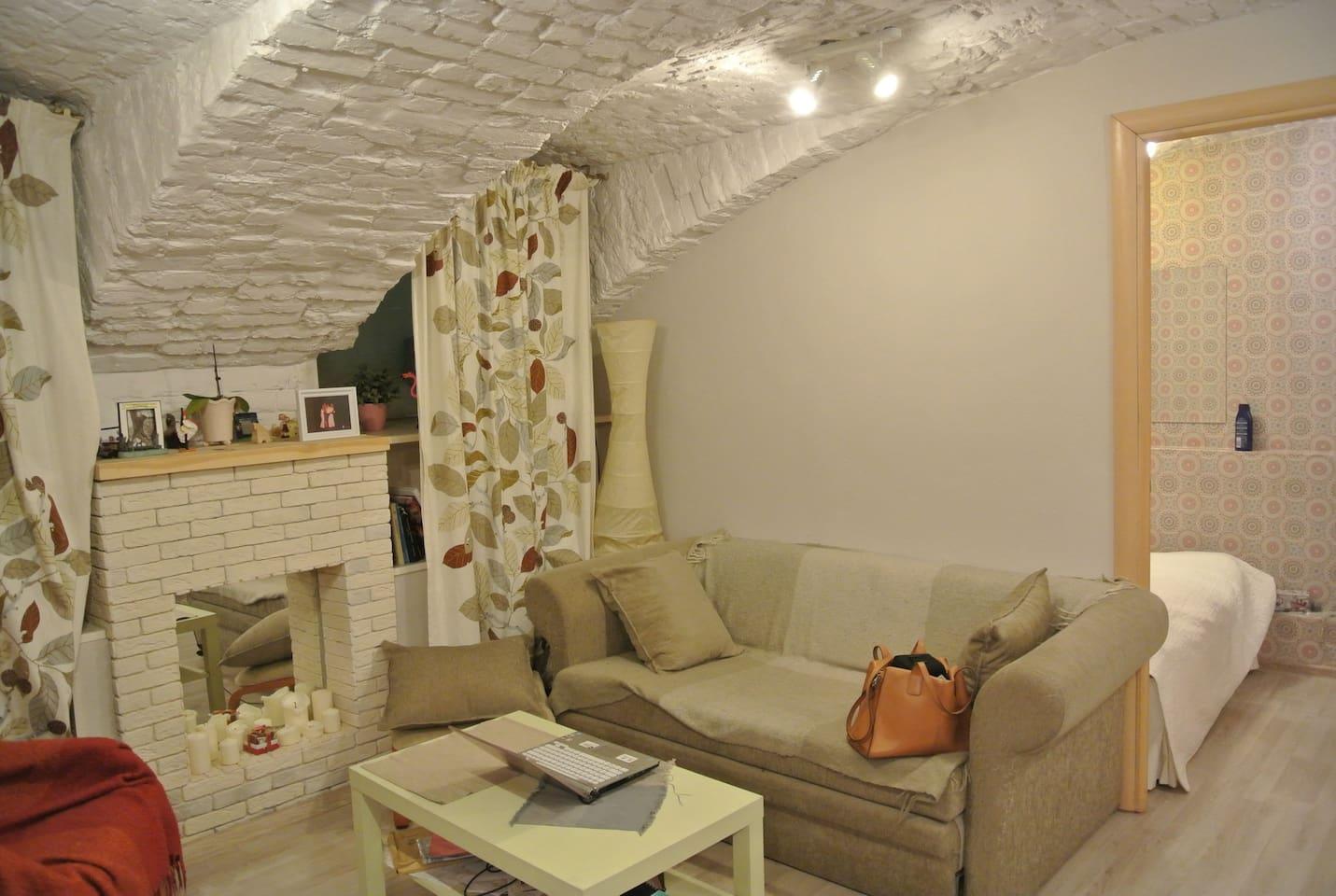Кухня-гостинная с 2-х местным раскладным диваном