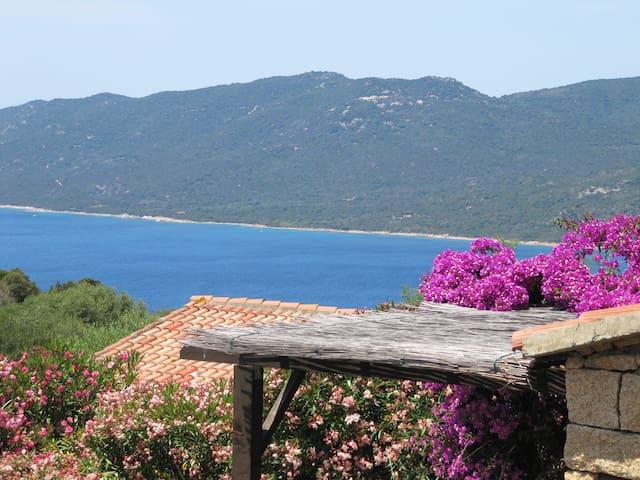 Mini villa vue mer et piscine chauffée - Serra-di-Ferro - Casa